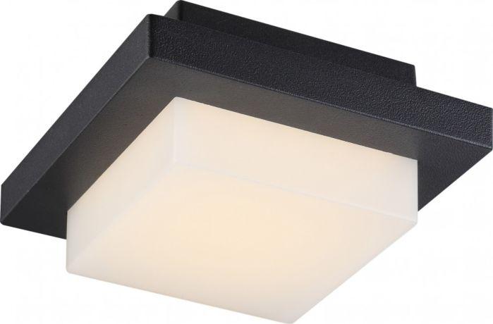 Lampada parete/soffitto LED per esterno OSKARI alluminio grigio, plastica opal Globo 34186