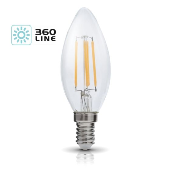 Lampadina LED K-Light E14 FSW 4W-3000K/440lm 360 Line