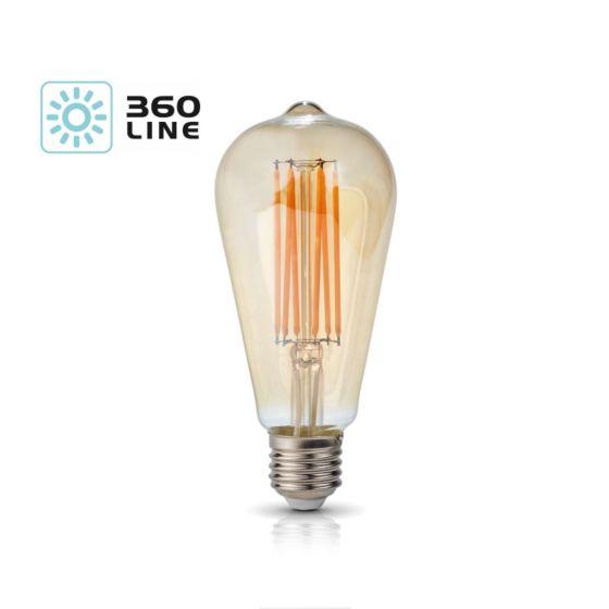 Lampadina LED K-Light E27 FST64 7W - 2700K/800lm 360 Line