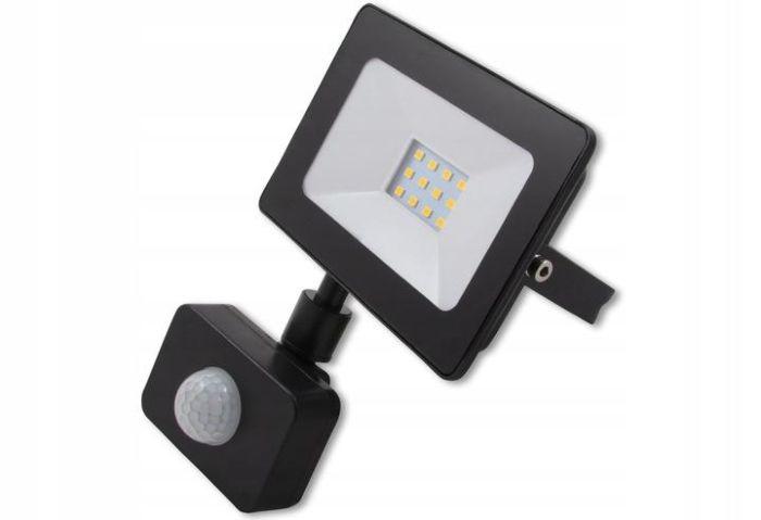 Riflettore a LED con sensore VP-EL VEGAS 10W - 4500K Blac