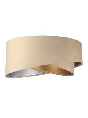 Lampada a sospensione BP-Light Galaxy Beige/silver/golden
