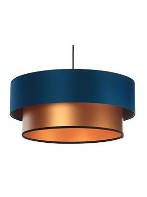 Lampada a sospensione BP-Light DUO Navy blue/copper 50