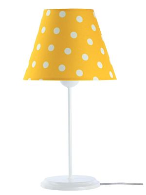 Lampada da tavolo BP-Light Benita Yellow/dots/white