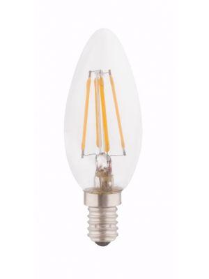 Lampadina LED E14 candle clear 4W 3000k/400lm Globo 10583