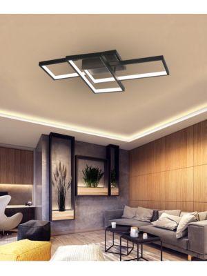 Lampada da soffitto a LED con telecomando VP-EL Oriana nero 72W