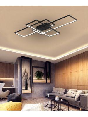 Lampada da soffitto a LED con telecomando VP-EL Pegasus nero 130W