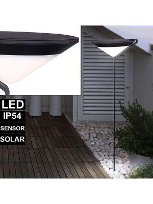 LED Solar lampada da terra per esterni con sensore Globo 33622S