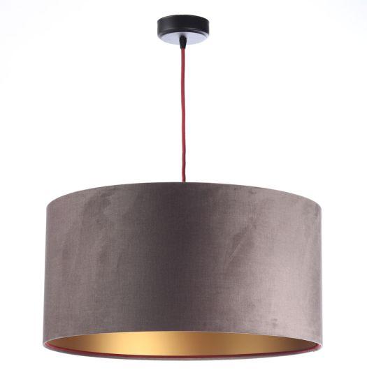 Lampada a sospensione  BP-Light OLENA VELVET DARK BEIGE GOLDEN MATT 035