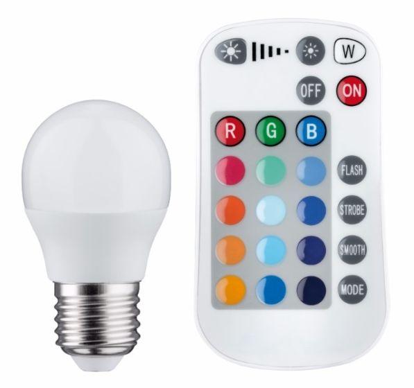 Lampadina LED E27 Candle RGB 3,5W - Dimmable