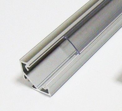 Profilo angolare in PVC per strisce LED 1m gray-transparent 22x12 mm