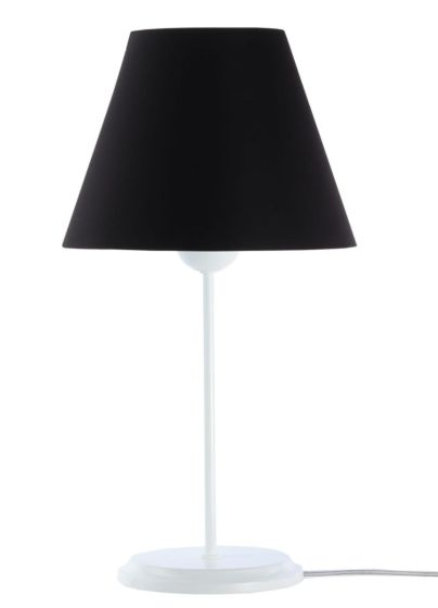 Lampada da tavolo BP-Light Satin Black/white