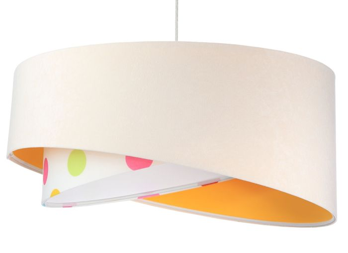 Lampada a sospensione BP-Light Galaxy Big dots white/orange