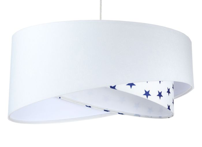 Lampada a sospensione BP-Light Galaxy White/navy blue stars