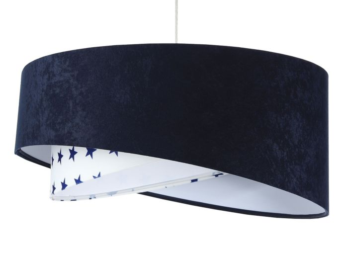 Lampada a sospensione BP-Light Galaxy Navy blue with stars